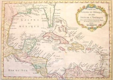 CARTE DU GOLPHE DU MEXIQUE ET DES ISLES DE L'AMERIQUE