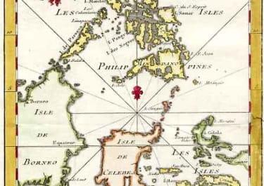 CARTE DES ISLES PHILIPPINES CELEBES ET MOLUCQUES