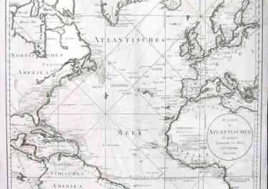 ATLANTIC OCEAN KARTE DES ATLANTISCHEN OCEANS