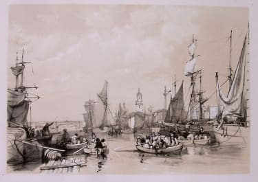 LONDON THE PORT OF LONDON 1834