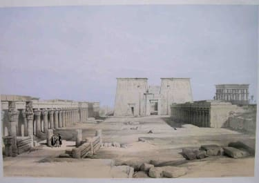 GRAND APPROACH TO THE TEMPLE OF PHILAE
