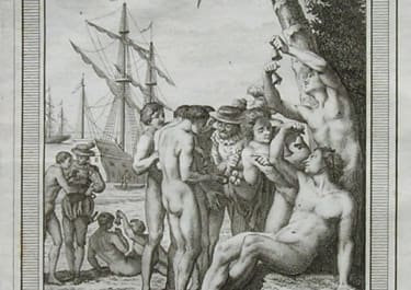 COLUMBUS ARRIVING IN NEW WORLD PREMIERS INDIENS QUI OFFRENT A COLUMB