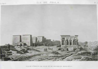 EGYPT PHILAE ILE DE PHILAE VUE DE L'EDIFICE DE L'EST ET DE PLUSIERS MONUMENS