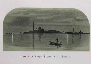 VENICE ISLAND OF ST GIORGIO MAGGIORE IN THE MOONLIGHT