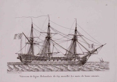MARINE VAISSEAU DE LIGNE HOLLANDAIS..