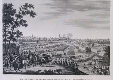 NAPOLEON RUSSIA ENTREE DES FRANCAIS DANS MOSKOU LE 14 SEPTEMBRE 1812