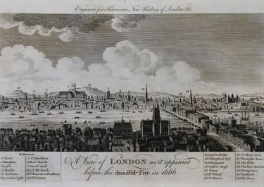 LONDON A VIEW OF LONDON AS IT APPEARED BEFORE THE DREADFUL FIRE IN 1666