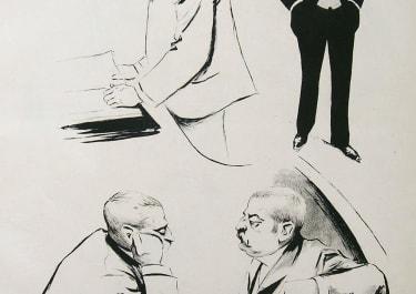 FRENCH POLITICAL CARICATURE M. WALDECK-ROUSSEAU