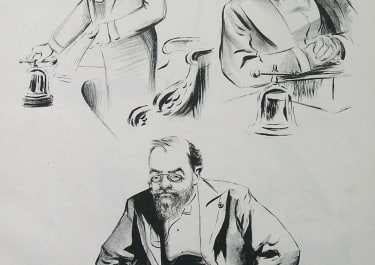 FRENCH POLITICAL CARICATURE MM DESCHENEL, FALLIERES..