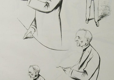 FRENCH POLITICAL CARICATURE MM RIBOT ET MELINE