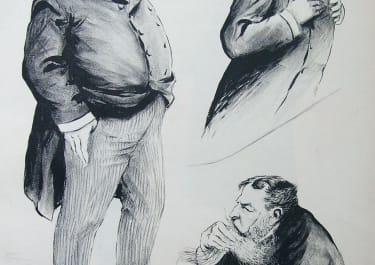 FRENCH POLITICAL CARICATURE MM JALAZOT, PAUL BEAUREGARD