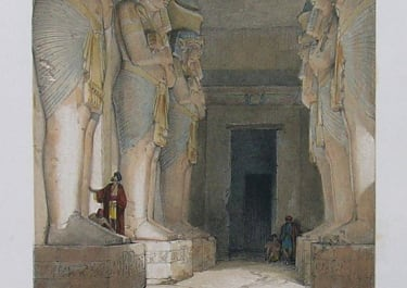 DAVID ROBERTS EXCAVATED TEMPLE OF GYRSHE