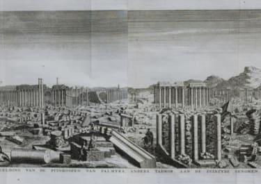 PALMYRA PANORAMA AFBEELDING VAN DE PUNIHOOPEN VAN PALMYRA ANDERS TADMOR