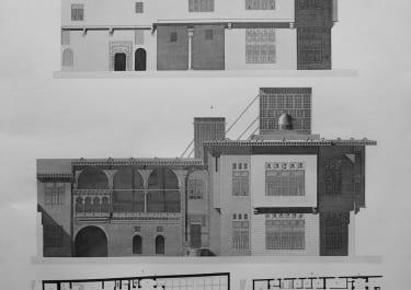 ARCHITECTURE ISLAMIC CAIRO PLAN DU REZ DE CHAUSSEE..MAISON DE HASSAN KACHEF