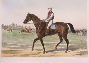STUNNING LITHOGRAPH OF THE RACE HORSE   'ALBION'  RARE BY JOURDAN & BARBOT