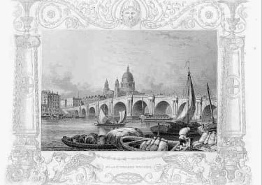 LONDON   BLACKFRIARS BRIDGE   ST PAULS
