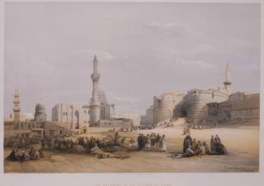 THE ENTRANCE TO THE CITADEL OF CAIRO  DAVID   ROBERTS