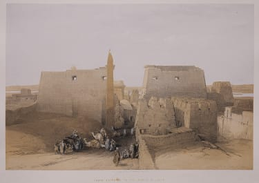 GRAND ENTRANCE TO THE TEMPLE OF LUXOR  DAVID ROBERTS