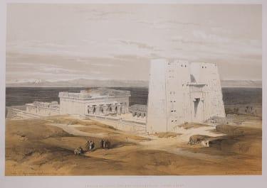 TEMPLE OF EDFOU  ANCIENT APOLLINOPOLIS  BY DAVID ROBERTS