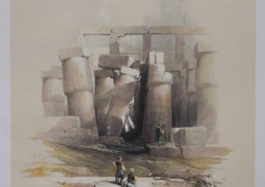 PART OF THE HALL OF COLUMNS AT KARNAK  ..DAVID ROBERTS