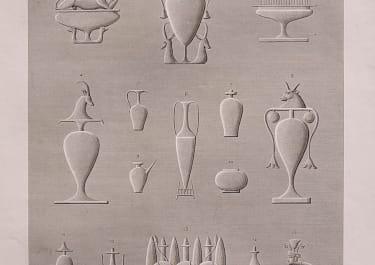 EGYPT   VASES DESSINES DANS PLUSIERS MONUMENS