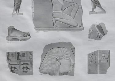 EGYPT THEBES  HYPOGEES FRAGMENS EN PIERRE