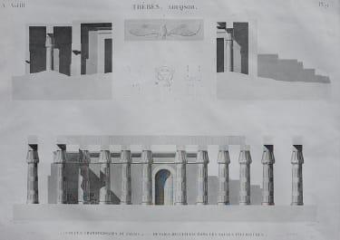 EGYPT  THEBES LOUQSOR  COUPES TRANSVERSALES DU PALAIS...
