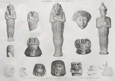 EGYPT  THEBES BYBAN EL MOLOUK   STATUES ET FRAGMENS