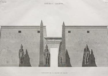 EGYPT LUXOR THEBES LOUQSOR ELEVATION DE LA FACADE DE LA PALAIS