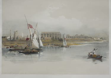 EGYPT   GENERAL VIEW OF THE RUINS OF LUXOR FROM THE NILE