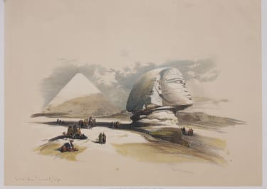 EGYPT SIDE VIEW OF THE GREAT SPHINX