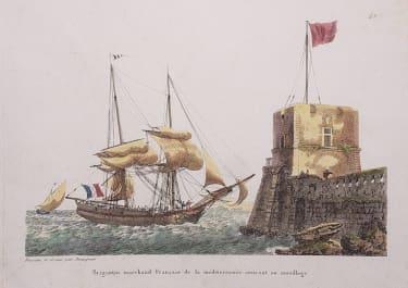 BRIGANTINE MARCHAND FRANCAIS DE LA MEDITERRANEE