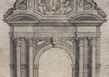 RARE PLATE FROM FRANCINI'S LIVRE D'ARCHITECTURE. PL XXXVI