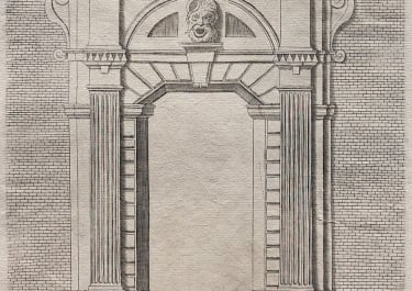 RARE PLATE FROM FRANCINI'S LIVRE D'ARCHITECTURE. PL XXXXI