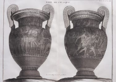 LARGE PLATE OF PAIR OF ETRUSCAN VASES PLATE  XXXIX