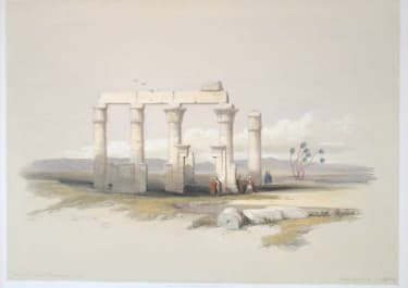 REMAINS OF THE TEMPLE OF MEDAMOUT AT THEBES