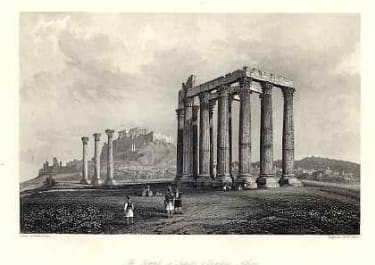 THE TEMPLE OF JUPITER OLYMPIUS ATHENS