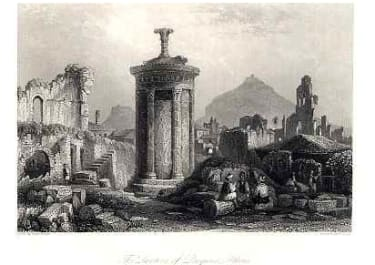 THE TEMPLE OF DIOGENES ATHENS