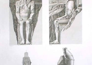 THEBES LOUQSOR DETAILS DES COLOSSUS...