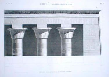 EDFOPU (APOLLINOPOLIS MAGNA) DETAILS D'ARCHITECTURE DU GRAND TEMPLE
