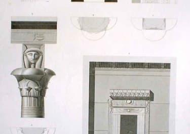 UTHEBES KARNAK DETAILS D'ARCHITECTURE...