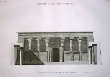 EDFOU (APOLLINOPOLIS MAGNA) ELEVATION ..DU GRAND TEMPLE