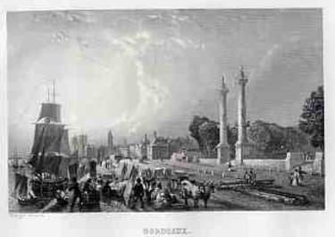 BORDEAUX(VUE DE QUAI LOUIS XVIII