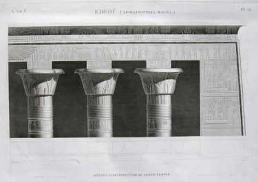 EDFOU (APOLLINOPOLIS MAGNA) DETAIL D'ARCHITECTURE DU GRAND TEMPLE