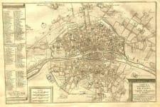 PARIS LE PLAN DE LA VILLE ,CITE,ET UNIVERSITE DE PARIS CAPITALE DU ROYAUME DE FRANCE