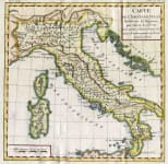 ITALY CARTE DE L'ANCIENNE ITALIE