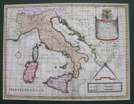 ITALY A NEW MAP OF PRESENT ITALY