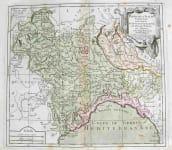GENOA MILAN PARTIE DE L'ITALIE COMPRENANT LES ETATS DU ROY DE SARDAIGNE,DE MILAN,PARME ET GENES
