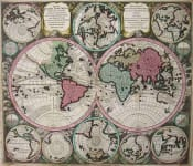 WORLD DIVERSI GLOBI TERR-AQUEI STATIONE VARIANTE ET VISU INTERCEDENTE PER COLUROS TROPICORUM PER AMBO POLOS