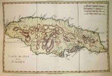 JAMAICA CARTE DE L'ISLE DE LA JAMAICQUE